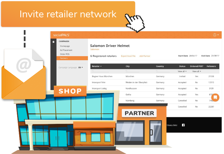 Simply invite your retailer network...