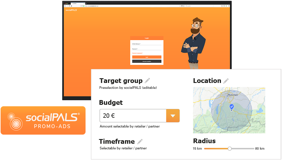 With the socialPALS dashboard, you can monitor shortly after launch how your money is spent!