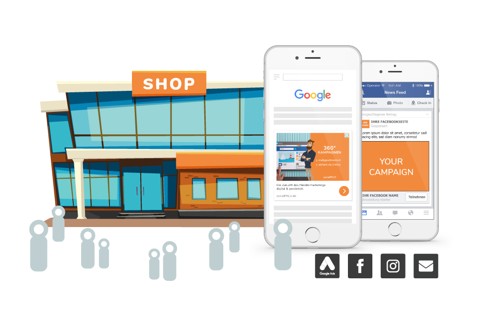 Brings customers into your store, boosts attendance of your campaign and increases your sales