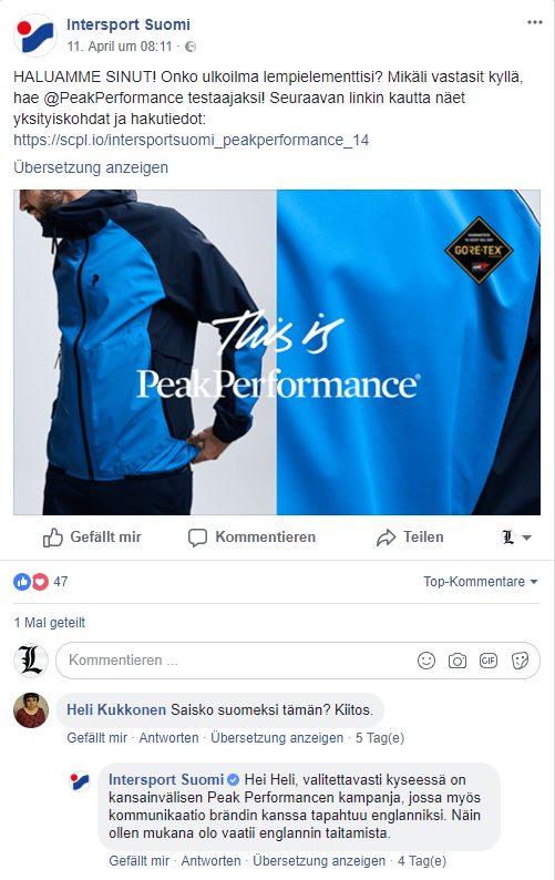 Peak Performance Campaign Image