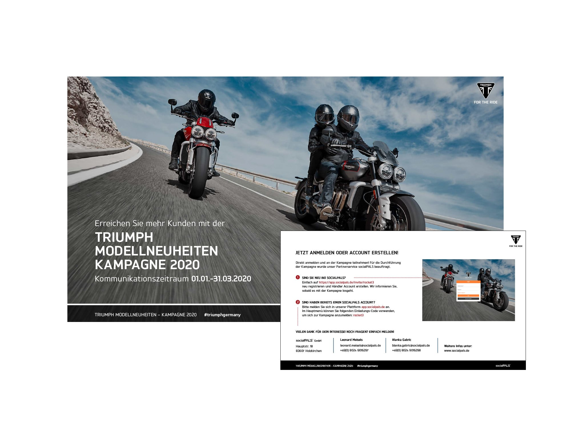 Invitation from the Triumph sales team