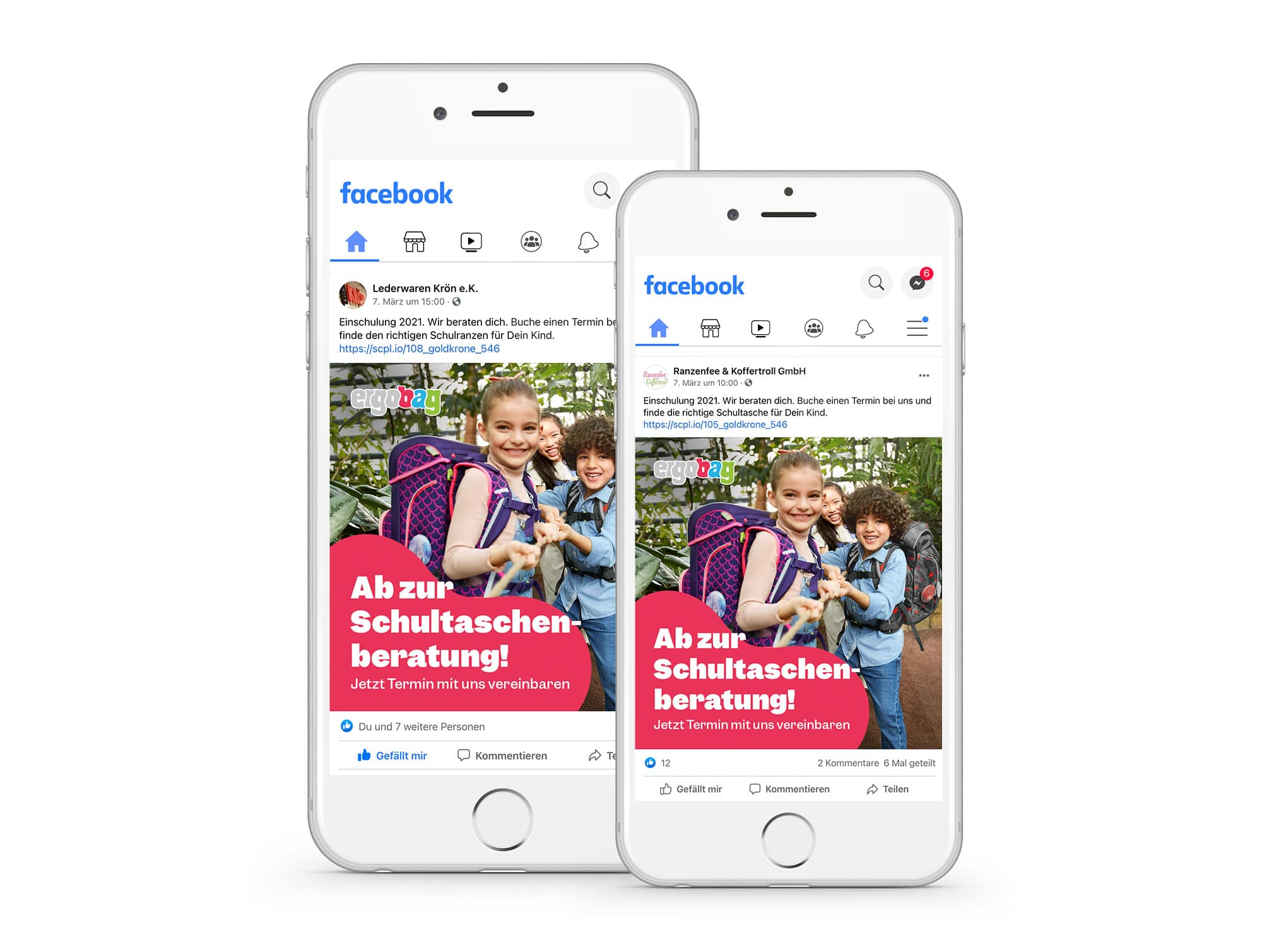 The posts are then automatically played out to the local target group via the dealer's channels (Facebook, Instagram, Google Display).