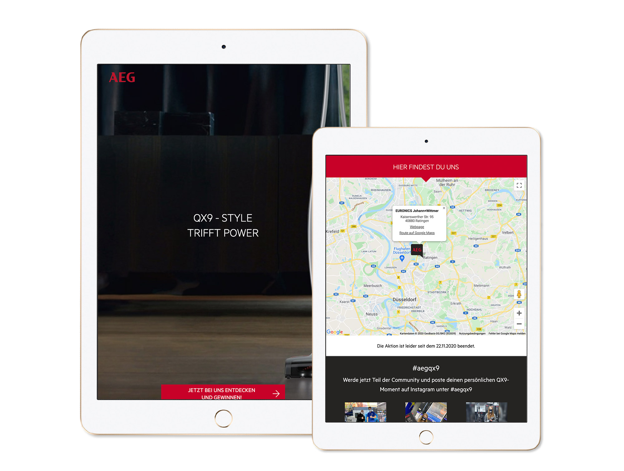 An individualized landing page shows more product information, dealer logo (optional: Google Maps, forms, etc.)