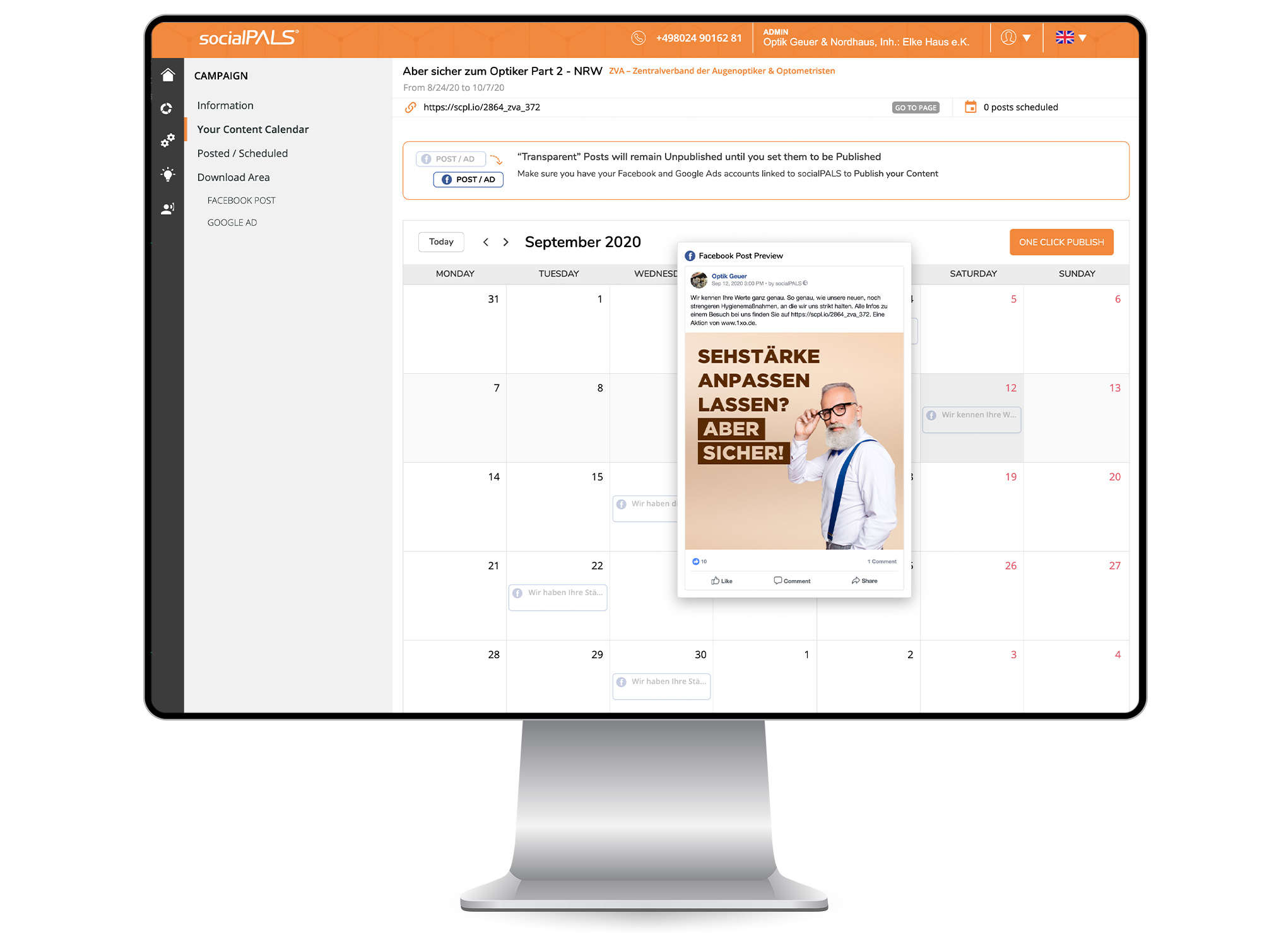 Dealers receive a ready-made editorial plan that can be adopted or customized immediately. Start via click.